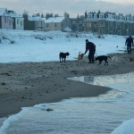Chilly Beach Walk, North Berwick Beach, 2011